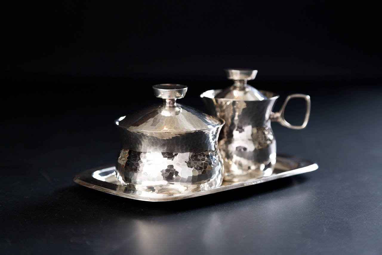 Eric Löfman Silver Coffee or Tea Service in Sterling Silver, 1960s - The Exchange Int
