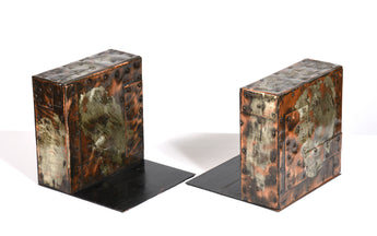 Paul Evans Pair of Marked Bookends, 1960s - The Exchange Int