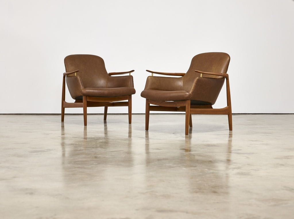 Finn Juhl Pair of Armchairs by Niels Vodder, Model NV53, 1950s