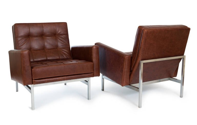 ... Florence Knoll Lounge Chairs In Leather, 1955   The Exchange Int ...