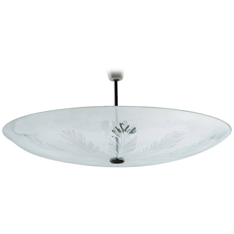 Fontana Arte Large Ceiling Fixture Attributed to Pietro Chiesa, 1935 - The Exchange Int