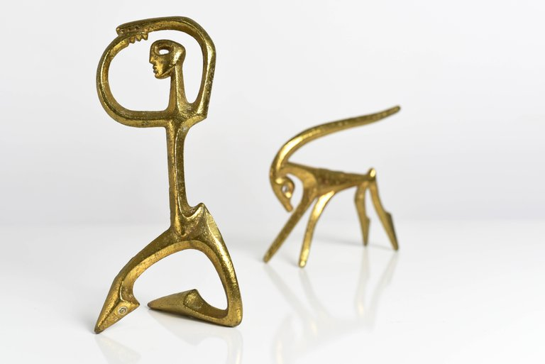 Frederic Weinberg Modernist Bronze Sculptures, 1950s - The Exchange Int