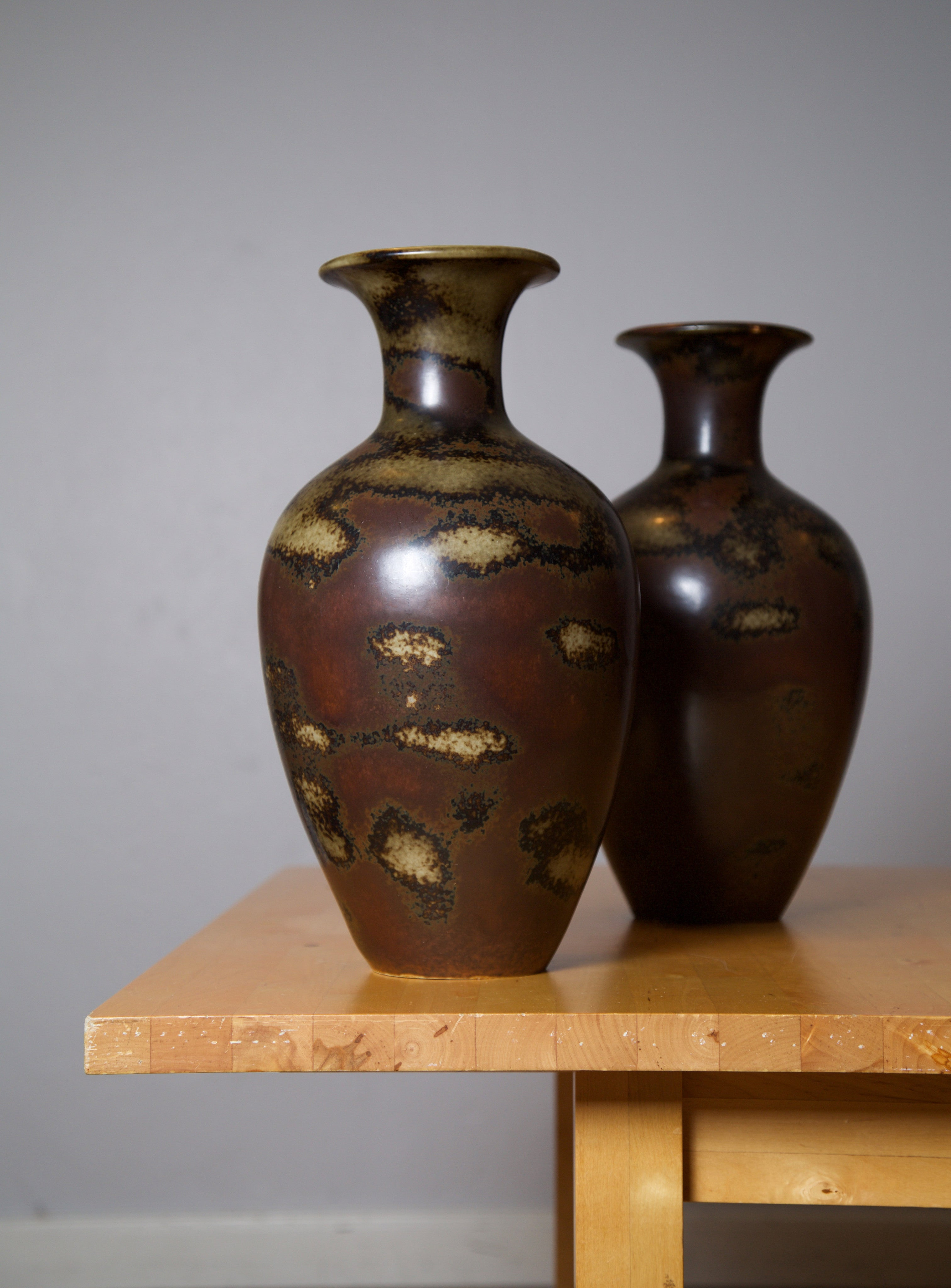 Gunnar Nylund, Pair of Floor Vases by Rörstrand Ab, Sweden, Early 1950s - The Exchange Int