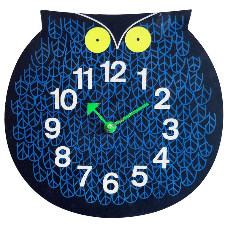 Original George Nelson 'Omar The Owl' Zoo Timer Clock, circa 1965 - The Exchange Int