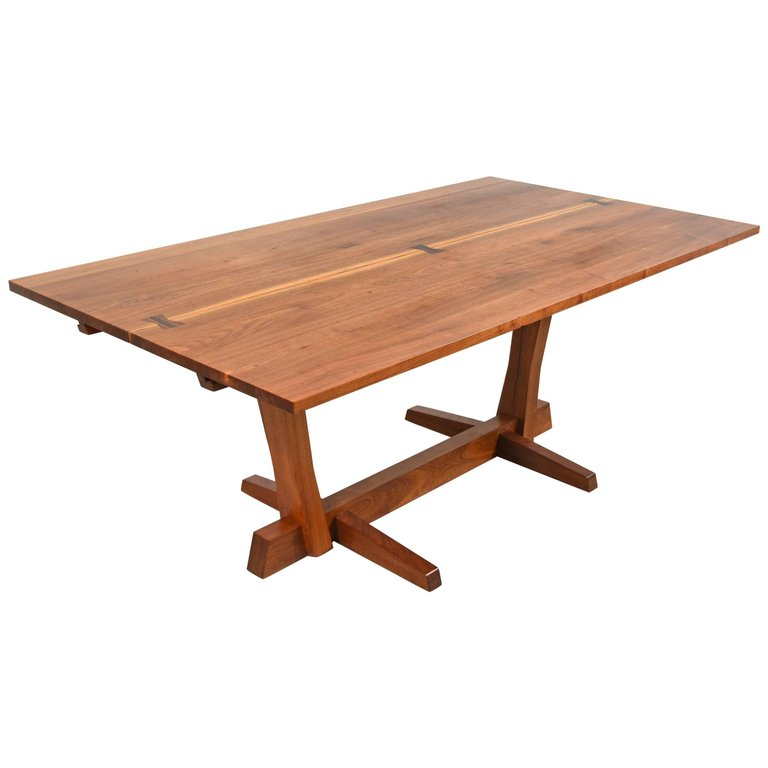 George Nakashima Conoid Dining Table In Walnut And Rosewood ...