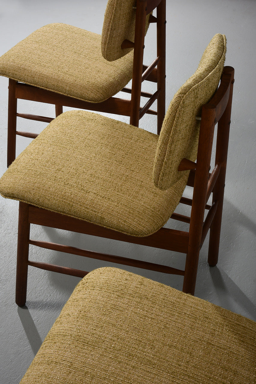 Greta Grossman Set of Four Chairs, Model 6260, circa 1952 - The Exchange Int