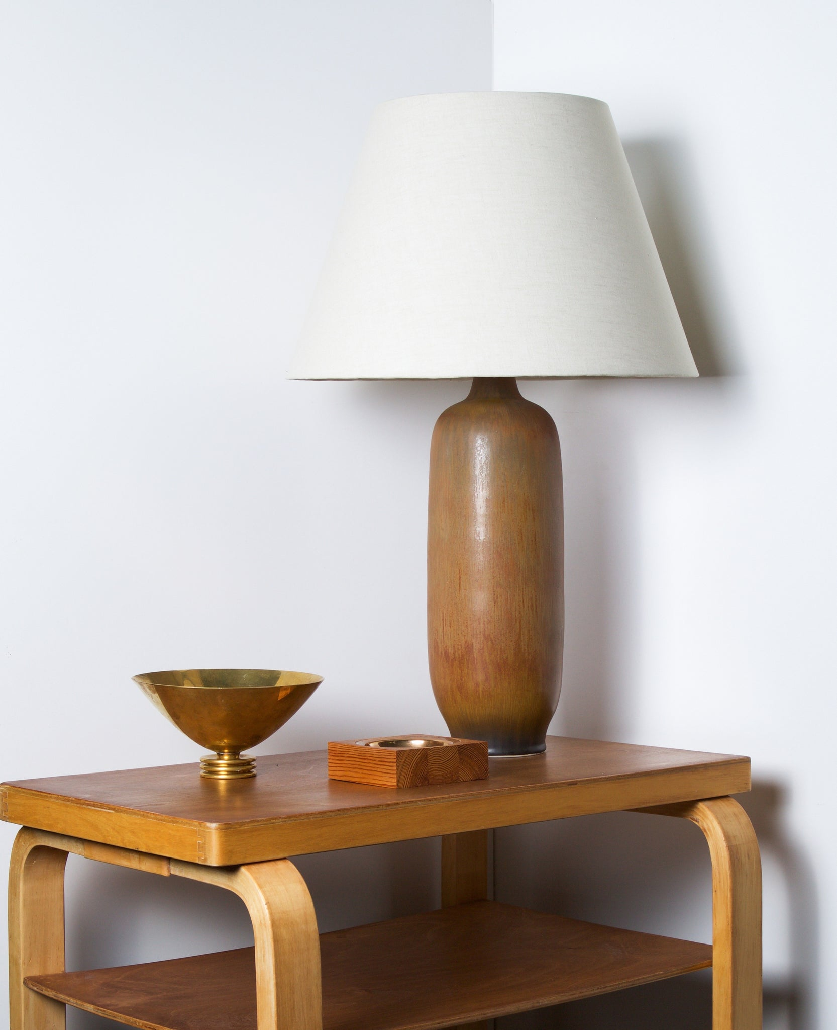 Large Ceramic Table Lamp by Carl-Harry Stålhane for Rörstrand Ab, Sweden