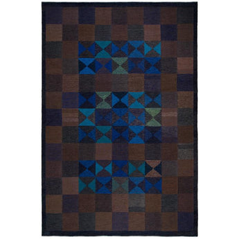 Ingrid Dessau, Flat-Weave Rug, Hemslöjden Borås, Sweden, circa 1950s - The Exchange Int
