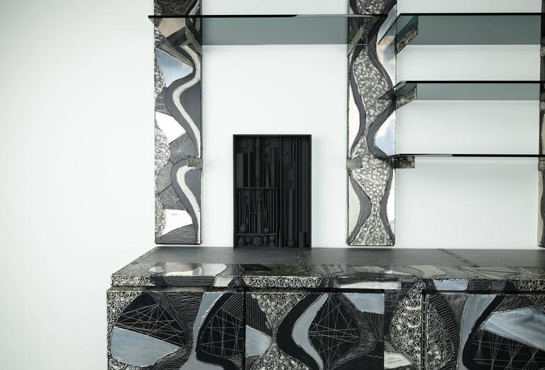 Paul Evans Studio Custom Order 'Argente' Horizontal Cabinet & Wall Unit - The Exchange Int