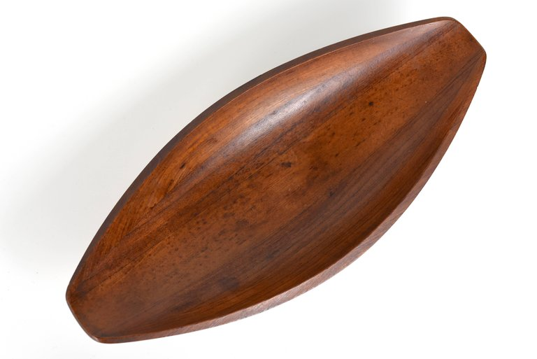 Jens H Quistgaard Canoe Bowl by Dansk, First Generation with Early Markings - The Exchange Int