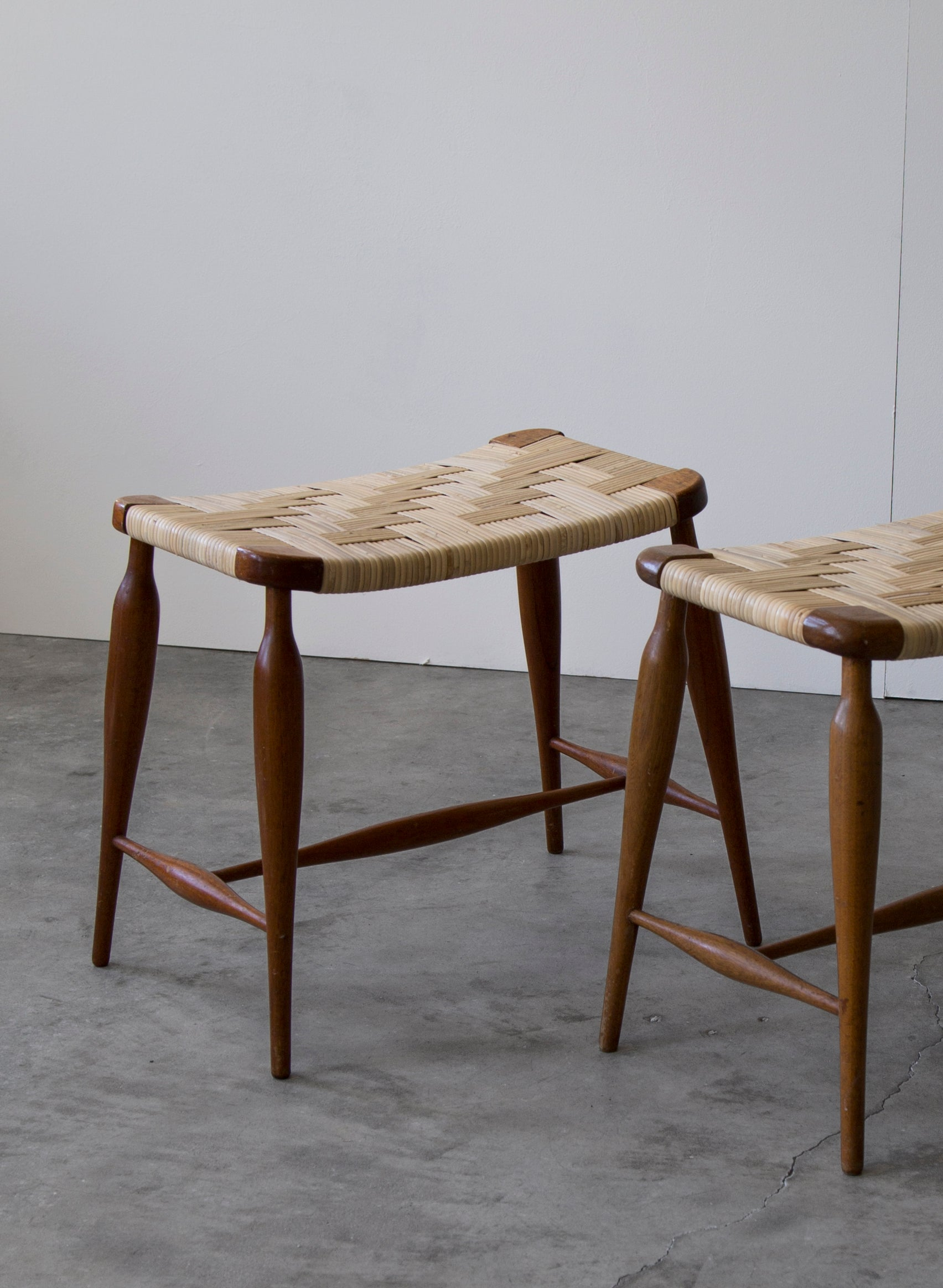 Josef Frank Pair of Stools, 1940s - The Exchange Int