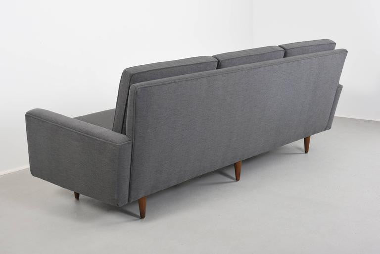 Florence Knoll Sofa Three-Seat Sofa, Model 26, Pair Available