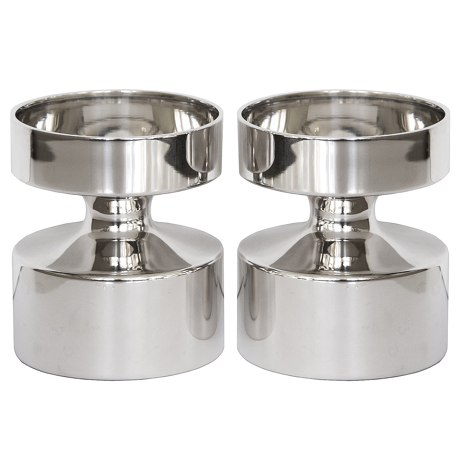 Pair of Eric Löfman Candleholders, Silver, 1960s - The Exchange Int