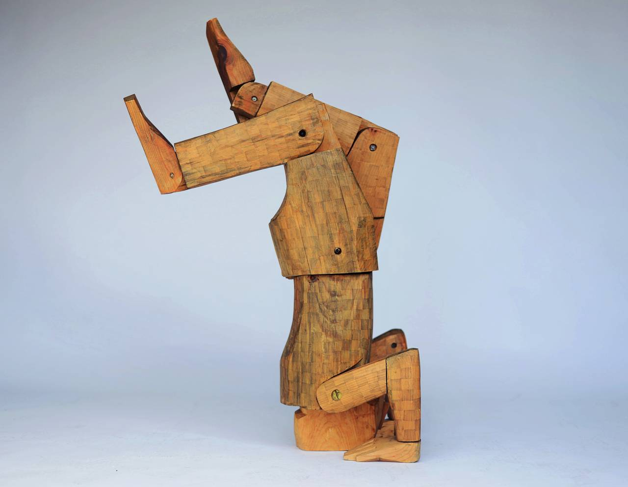 Carved Wood Sculpture by Louise Kruger, 1970s - The Exchange Int