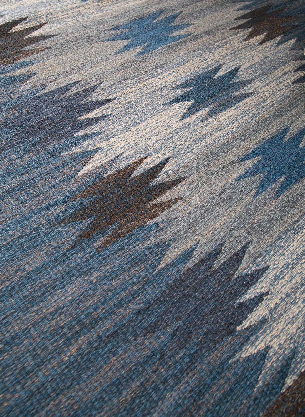 "Handmade Swedish Flat-Weave Carpet, Signed ""ML"", 1950s - The Exchange Int"
