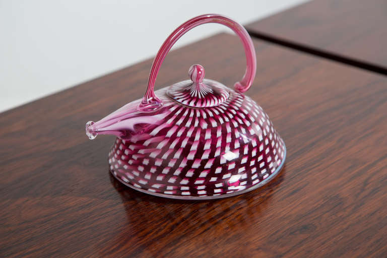 Richard Marquis Blown Glass Signed Teapot Sculpture, 1981