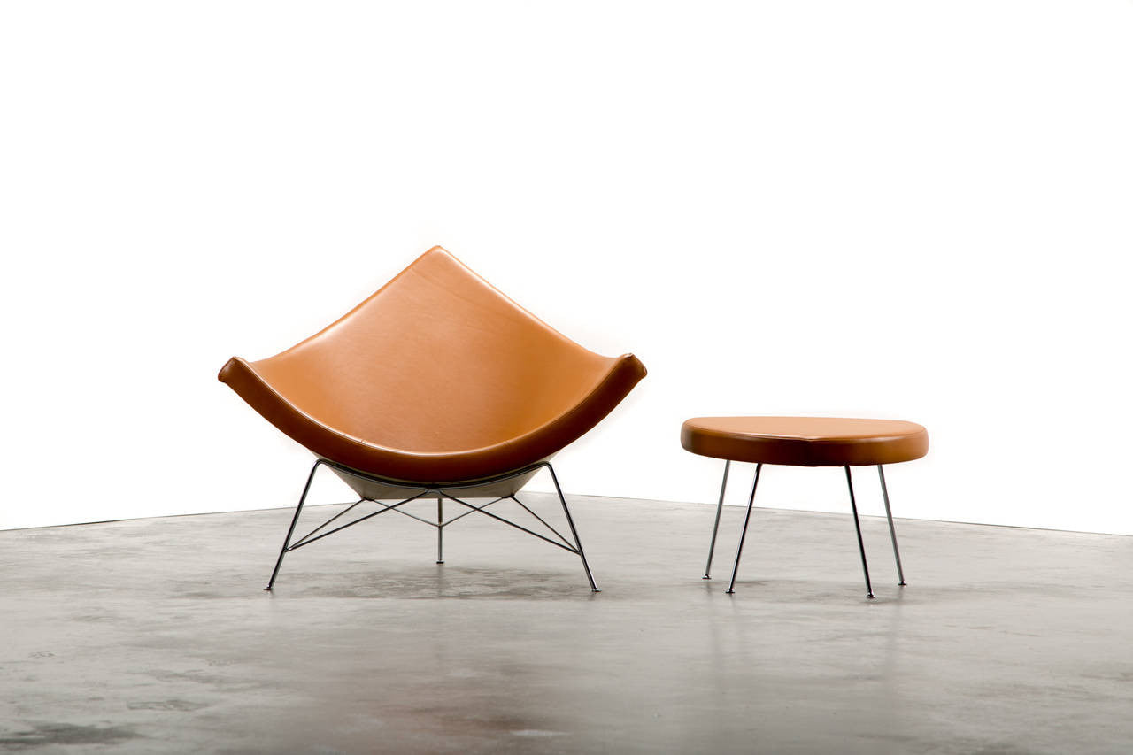 1950s George Nelson for Herman Miller Coconut Chair and Ottoman - The Exchange Int