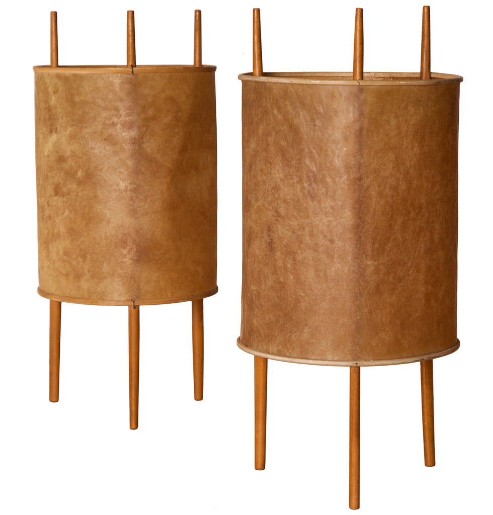 Isamu Noguchi, Early Pair of Table Lamps, All Original, by Knoll, 1947