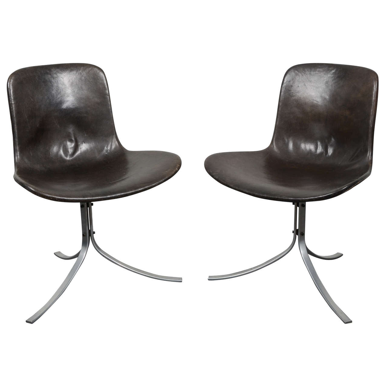 Poul Kjaerholm PK9 Chairs for E. Kold Christensen, Original Condition, 1960s - The Exchange Int
