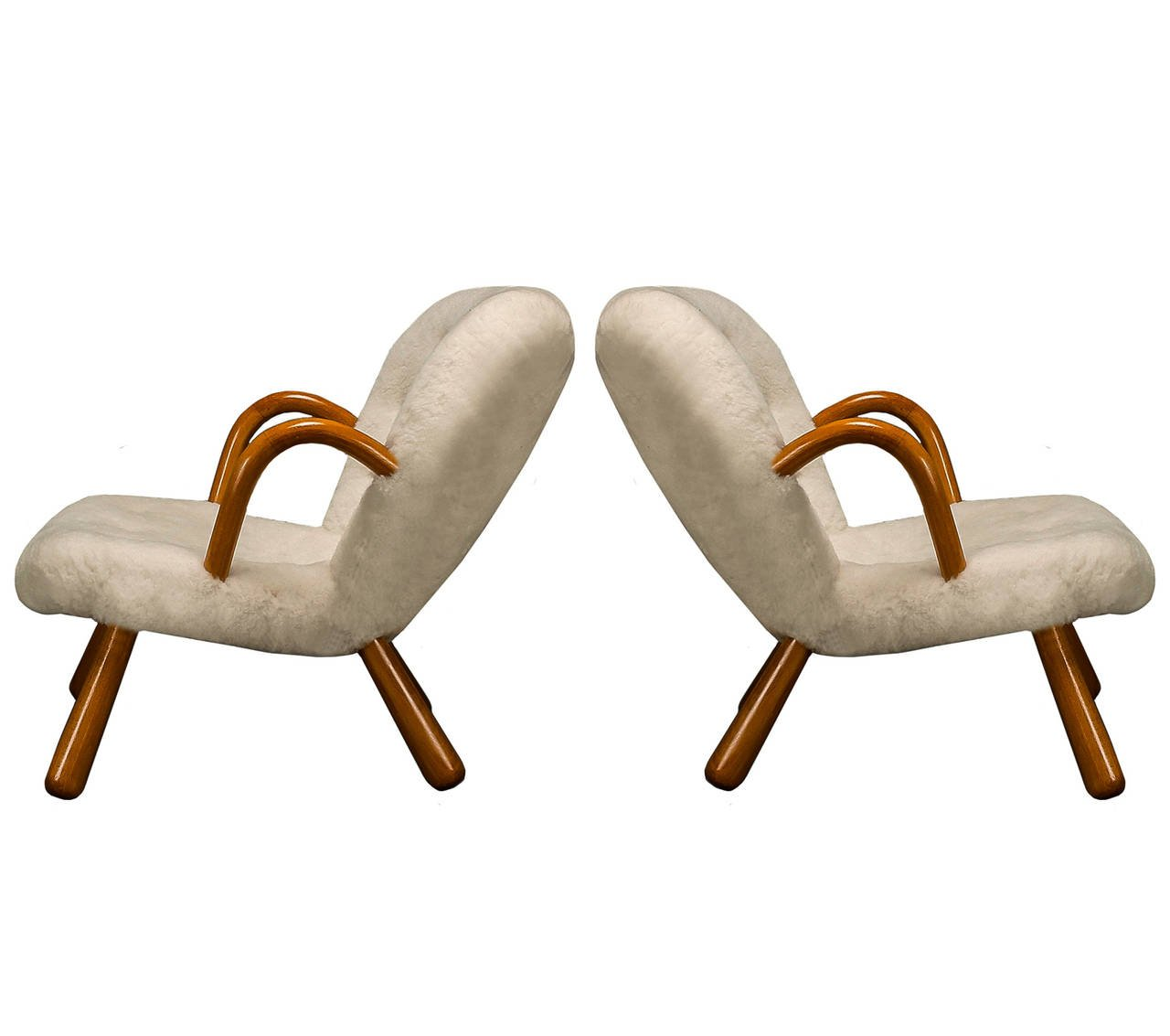 Pair of Philip Arctander Clam Chairs, 1940s - The Exchange Int