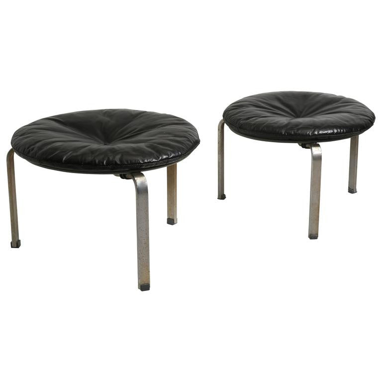 Pair of Poul Kjaerholm PK 33 Stools for E Kold Christensen, 1950s - The Exchange Int