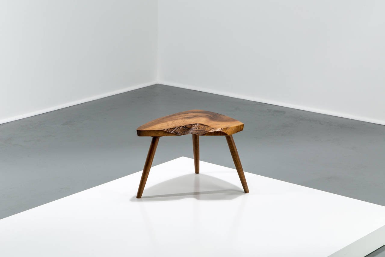George Nakashima Walnut Plank Footstool or Table, 1973 - The Exchange Int