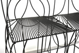 John Risley Sculptural Wire Settee, 1960s - The Exchange Int