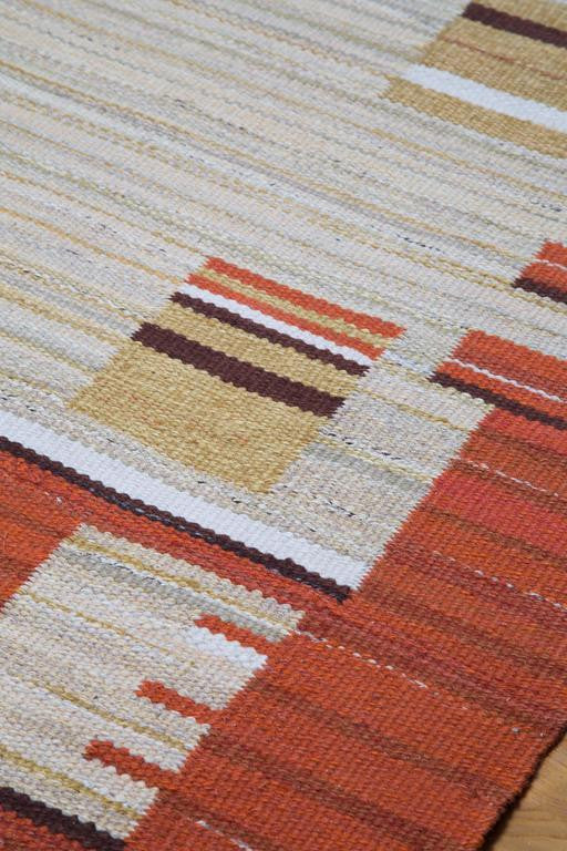 Swedish Art Deco Modernist Flat-Weave Rug, 1930s - The Exchange Int