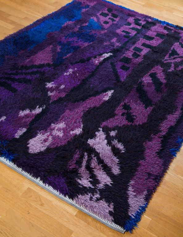 Modern Rya Handmade Carpet, Sweden, 1961 - The Exchange Int