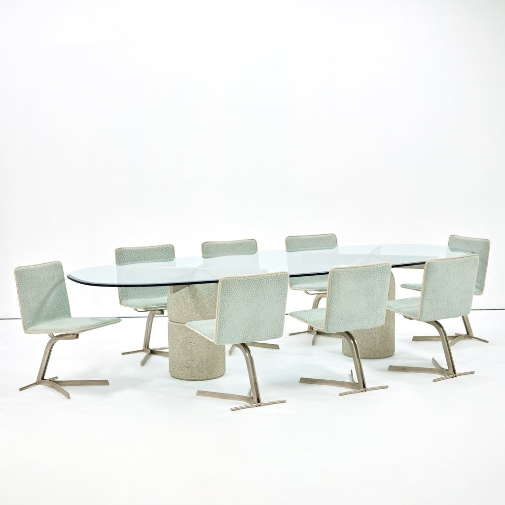 Saporiti Dining Chairs, Set of Eight, 1970s