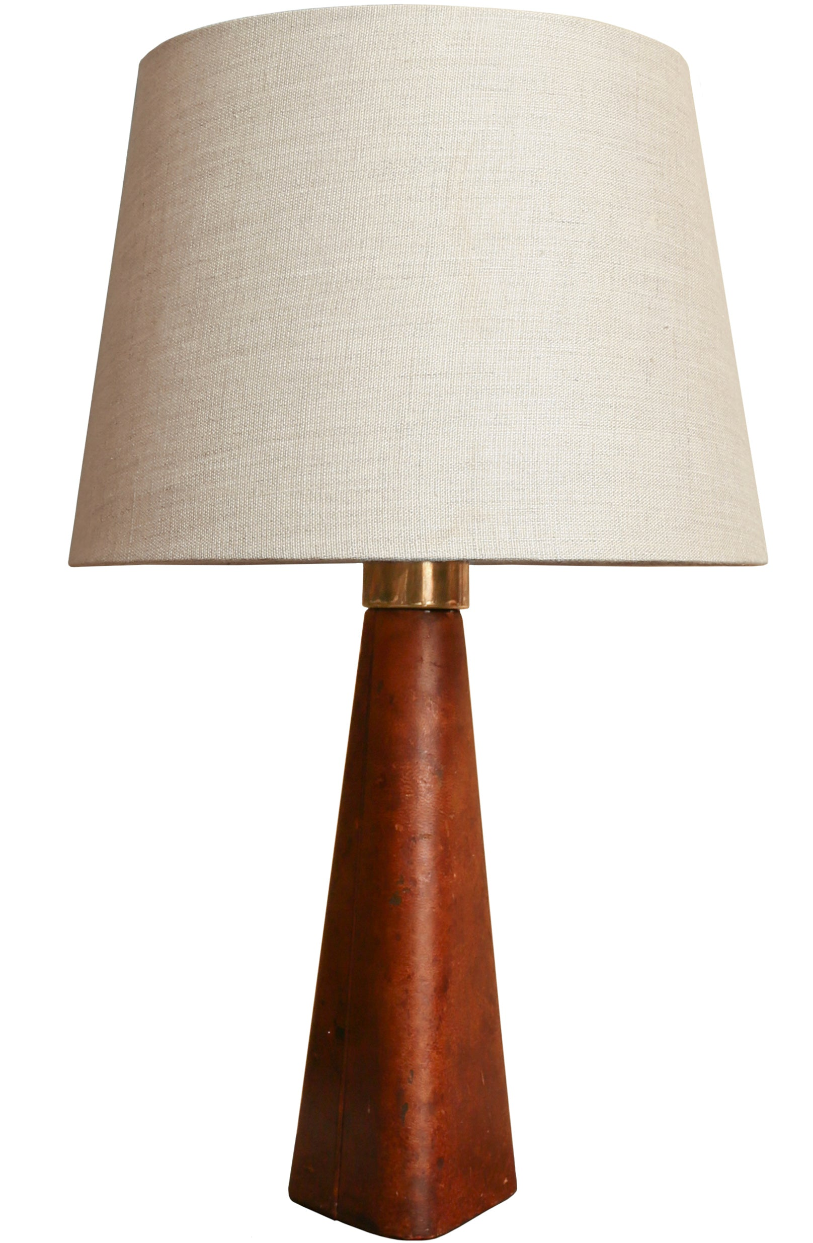 Lisa Johansson-Pape Leather Table Lamp, Model 46-186, Stockmann-Orno, 1950s - The Exchange Int