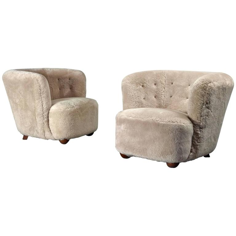 Danish Cabinetmaker Lounge Chairs Pair, 1940 - The Exchange Int