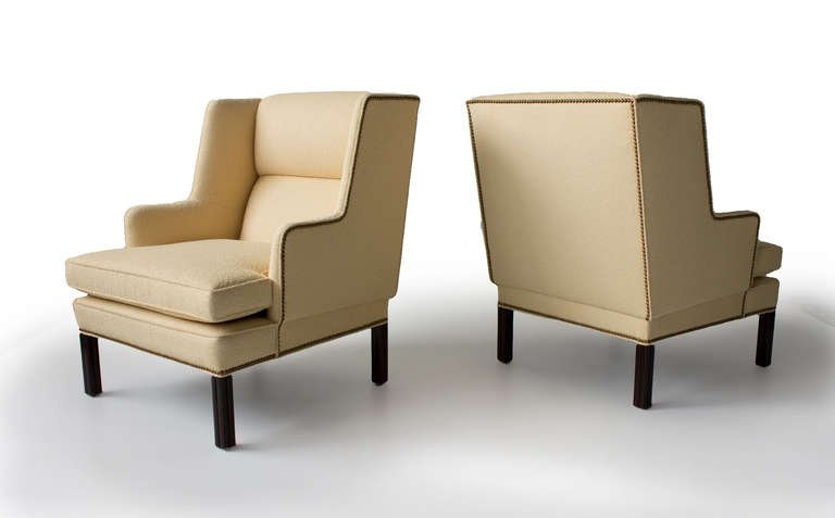 Pair of Edward Wormley for Dunbar Lounge Chairs, 1950s - The Exchange Int