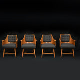 Edward Wormley for Dunbar Armchairs, Rare Set of Four, 1950s - The Exchange Int