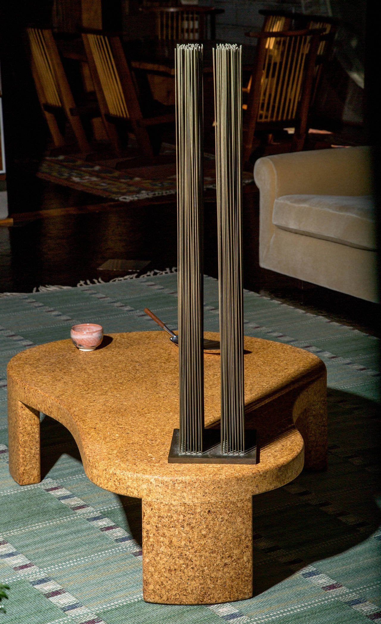 Paul Frankl Cork Coffee Table, 1948 - The Exchange Int
