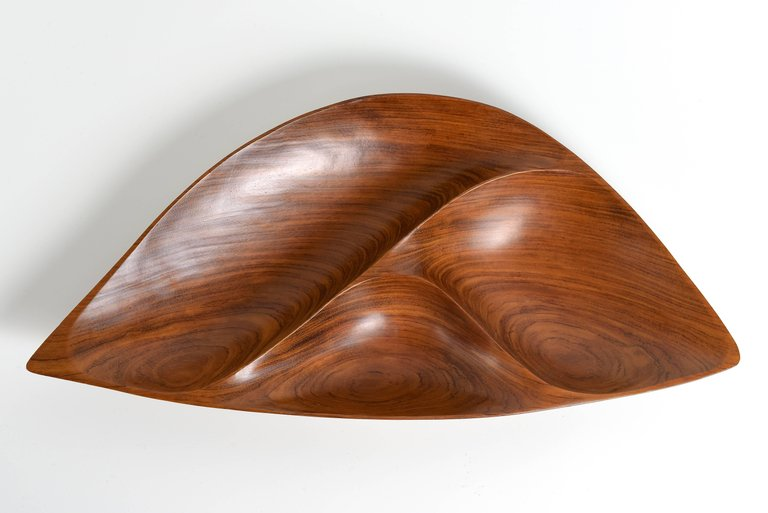 Emil Milan Segmented Rosewood Bowl, 1970s - The Exchange Int
