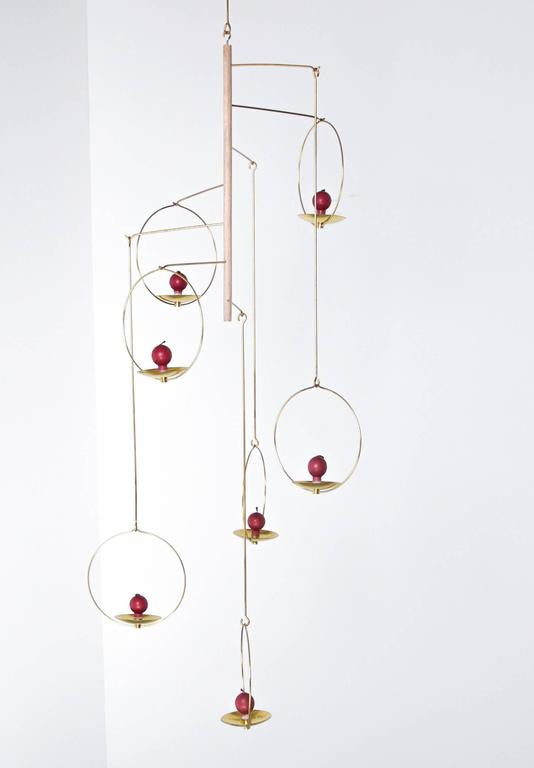 Timo Sarpaneva, Early 1960s Large Brass Candle Mobile, Model No.427, Aarikka Oy - The Exchange Int