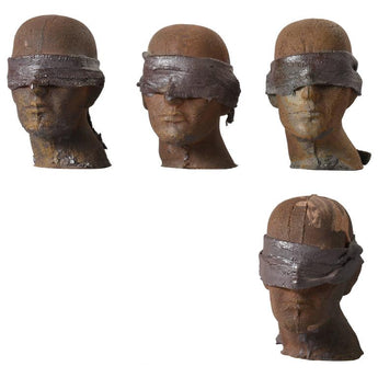 Set of Four Ceramic Heads by Tony Hepburn, 1980s - The Exchange Int