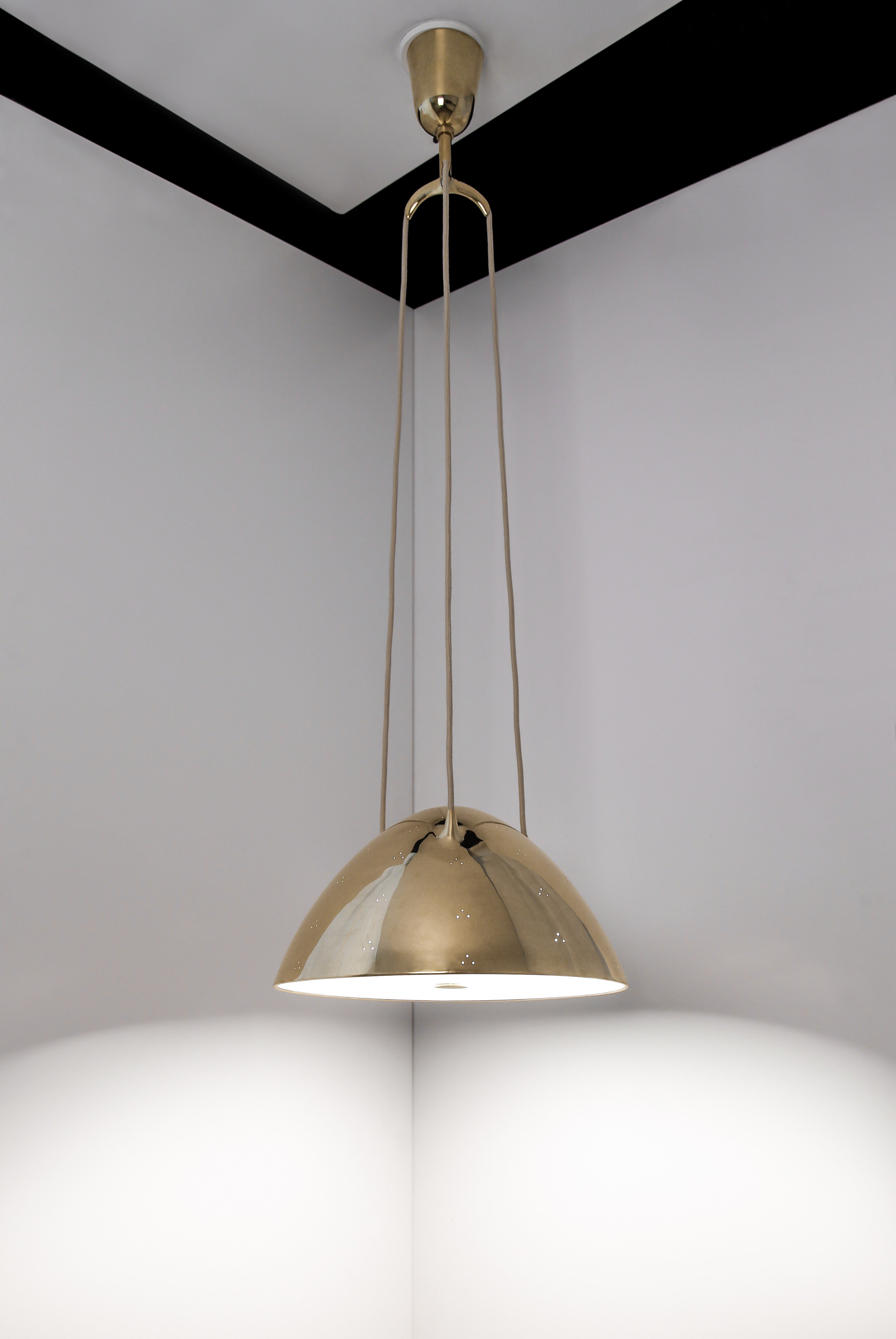 Paavo Tynell Ceiling Lamp, Taito Oy, 1940s, Adjustable - The Exchange Int