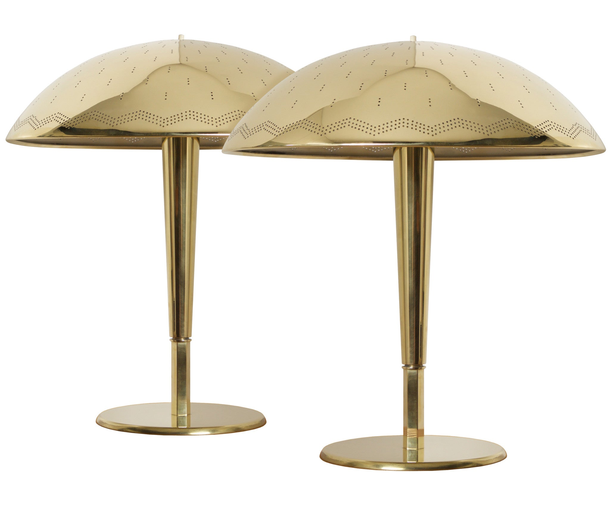 Paavo Tynell, Model 5061, Pair of Table Lamps by Taito Oy, Finland, 1940s - The Exchange Int