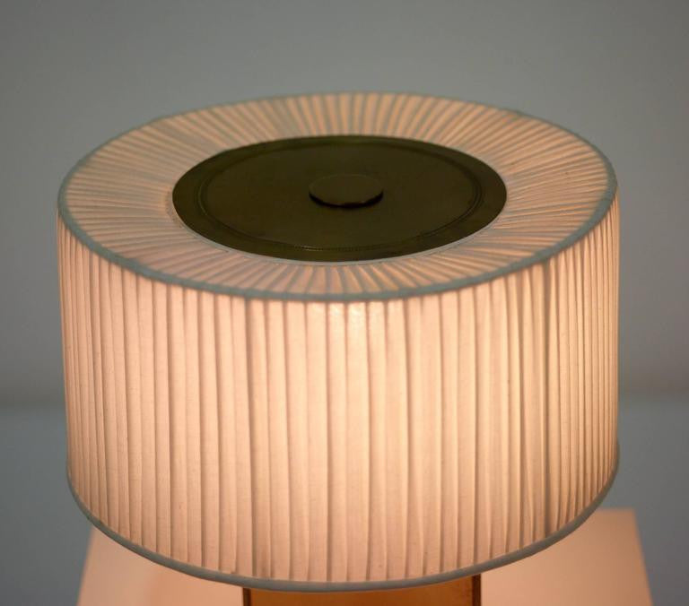 Paavo Tynell Lamp with Linen Shade, circa 1945 - The Exchange Int