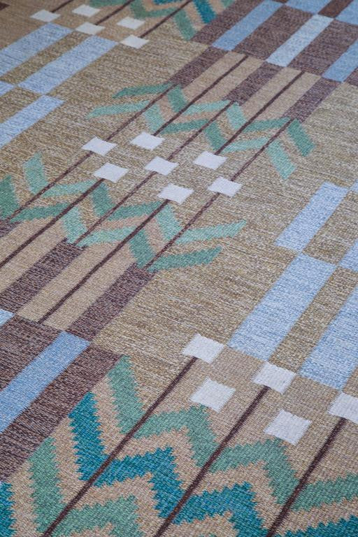 Ulla Parkdal, Swedish Flat-Weave Carpet, 1960s - The Exchange Int