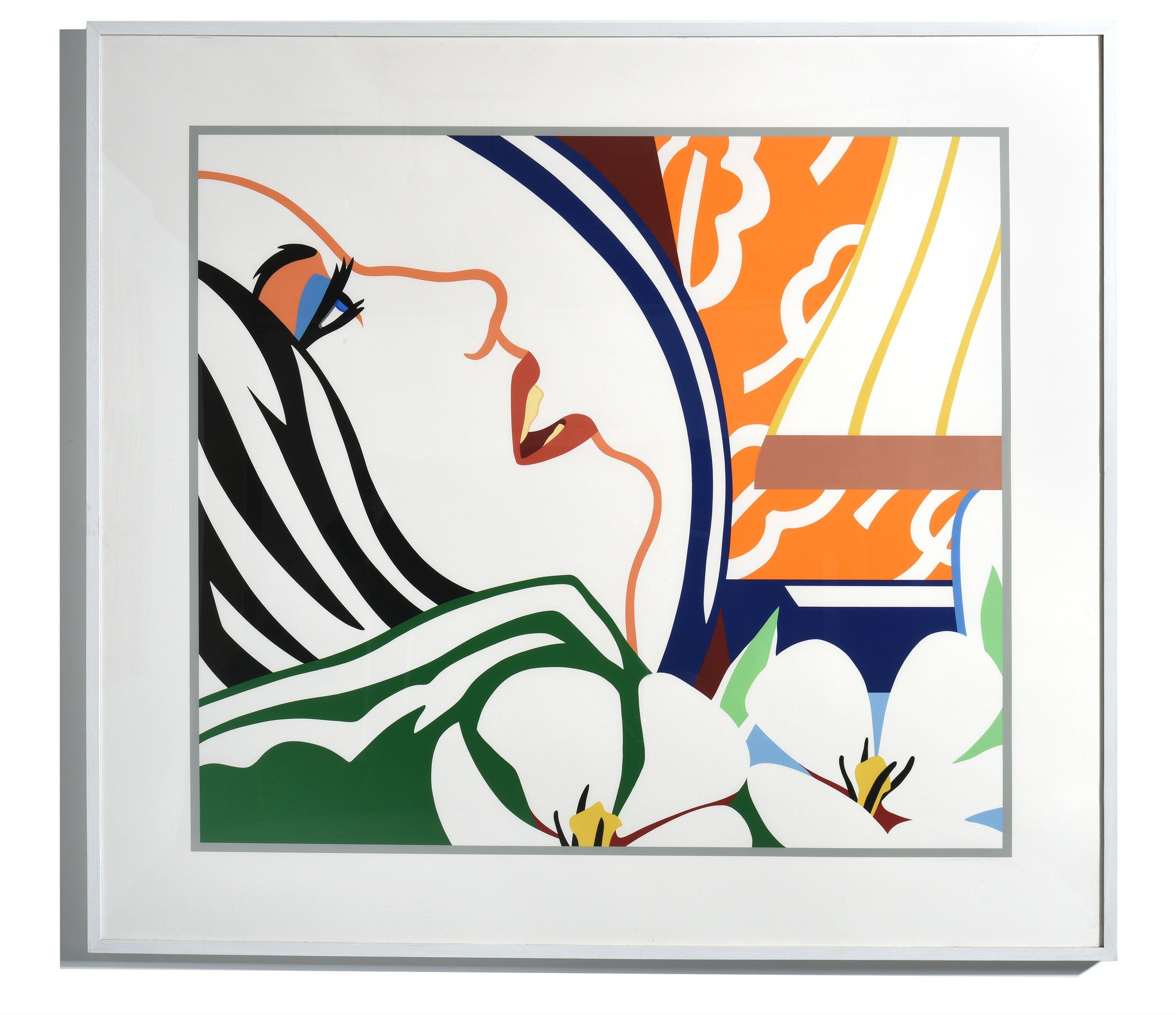 "Tom Wesselmann Serigraph ""Bedroom Face with Orange Wallpaper"" 1987 - The Exchange Int"