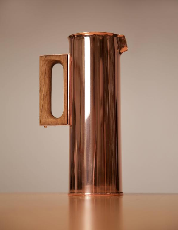 Tapio Wirkkala Rare Copper Pitcher, Handmade to Order, Finland, 1960s - The Exchange Int