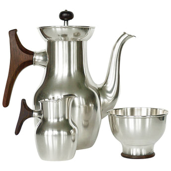 Tapio Wirkkala, Silver Coffee Tea Service, Handmade to Order by Kultakeskus Oy - The Exchange Int