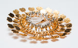 "Tapio Wirkkala, Handmade ""Sunflower"" Brooch, Gold with Diamonds, 1960s - The Exchange Int"
