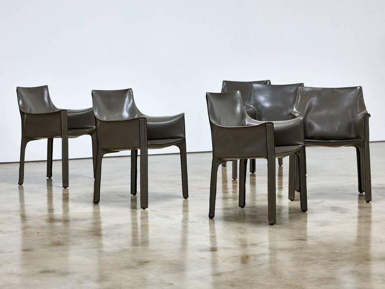 Mario Bellini Cab Chairs, Set of Six