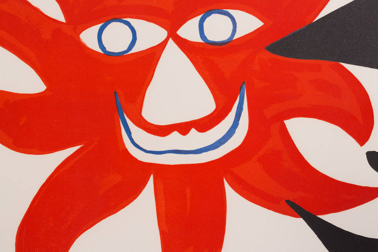 "Alexander Calder Lithograph ""Deux Tetes,"" 1970 - The Exchange Int"