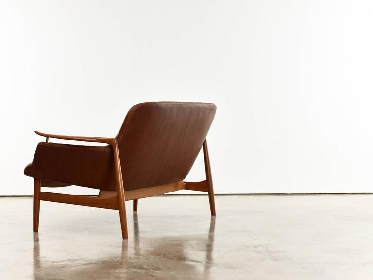 Finn Juhl by Niels Vodder Two-Seat Sofa and Lounge Chairs, Model No. Nv53, 1950s - The Exchange Int