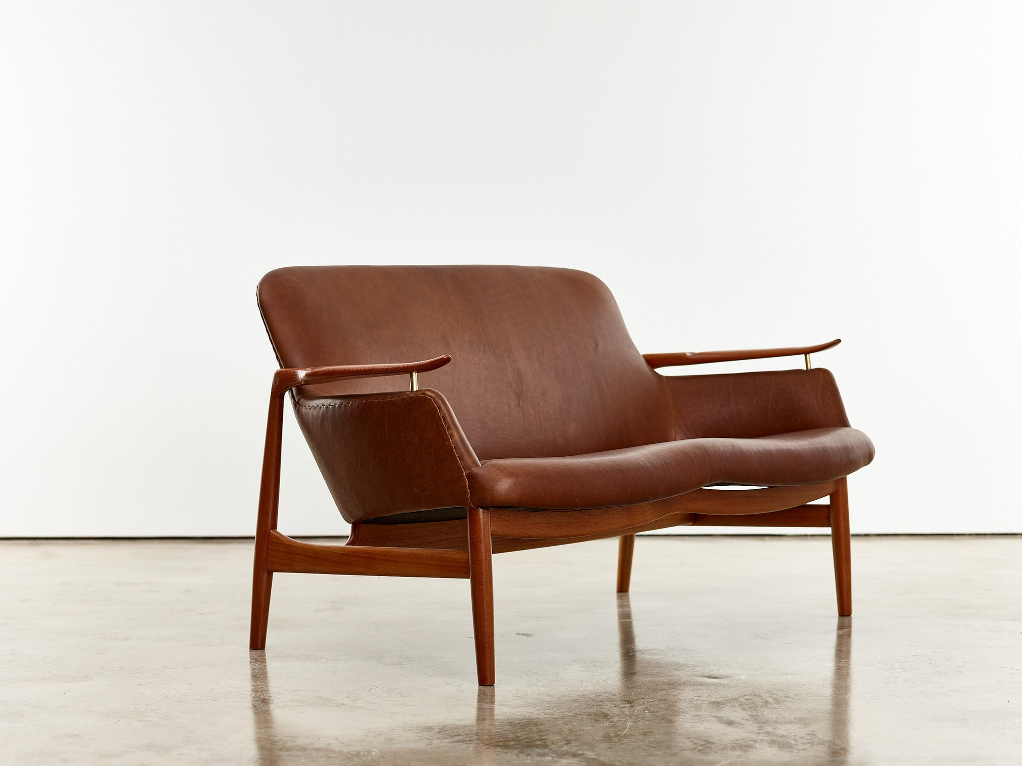 Finn Juhl Two-Seat Sofa, Model No. NV53 in Leather - The Exchange Int